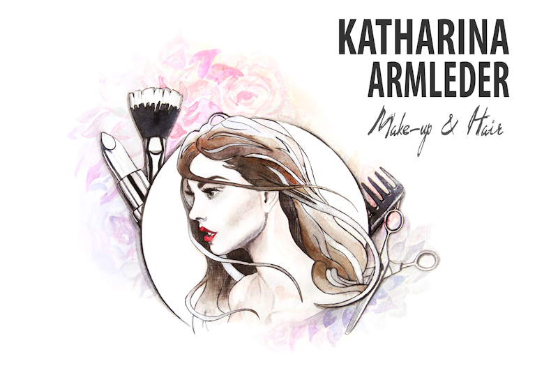Katharina Armleder Make-up Artist & Hairstylist Illustration