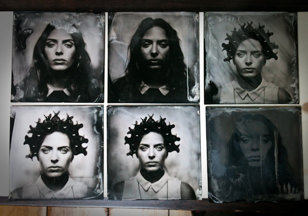 Collodion Wet plate photography photo: Krzysztof Brzeski, Make-up & Hair: Katharina Armleder