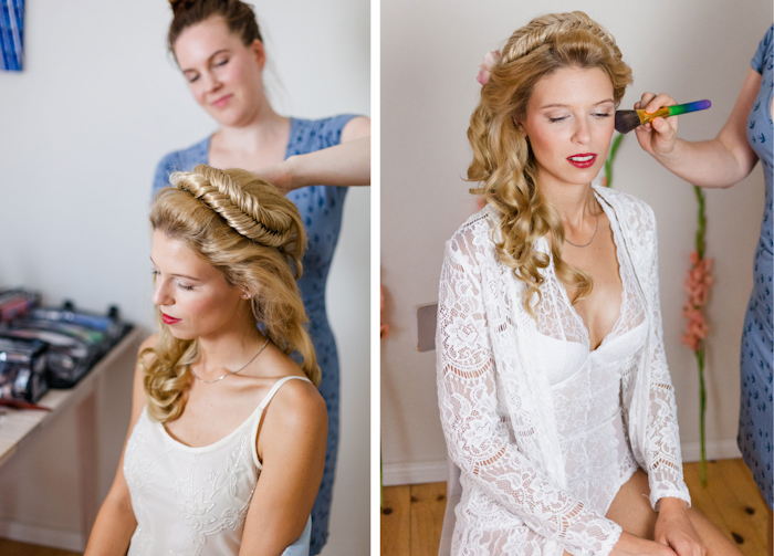Making of Boudoir Shooting Berlin, Foto: Antje Klemm, Make-up & Hair: Katharina Armleder, Model: Lisa